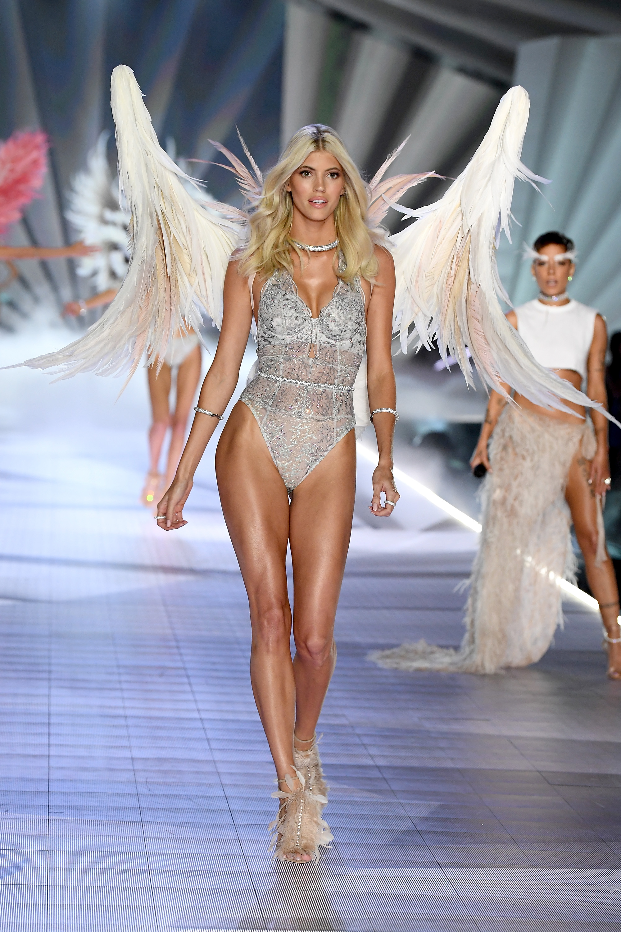 Devon Windsor walks the runway during the 2018 Victoria's Secret Fashion Show at Pier 94 on November 8, 2018, in New York City. (Getty Images)
