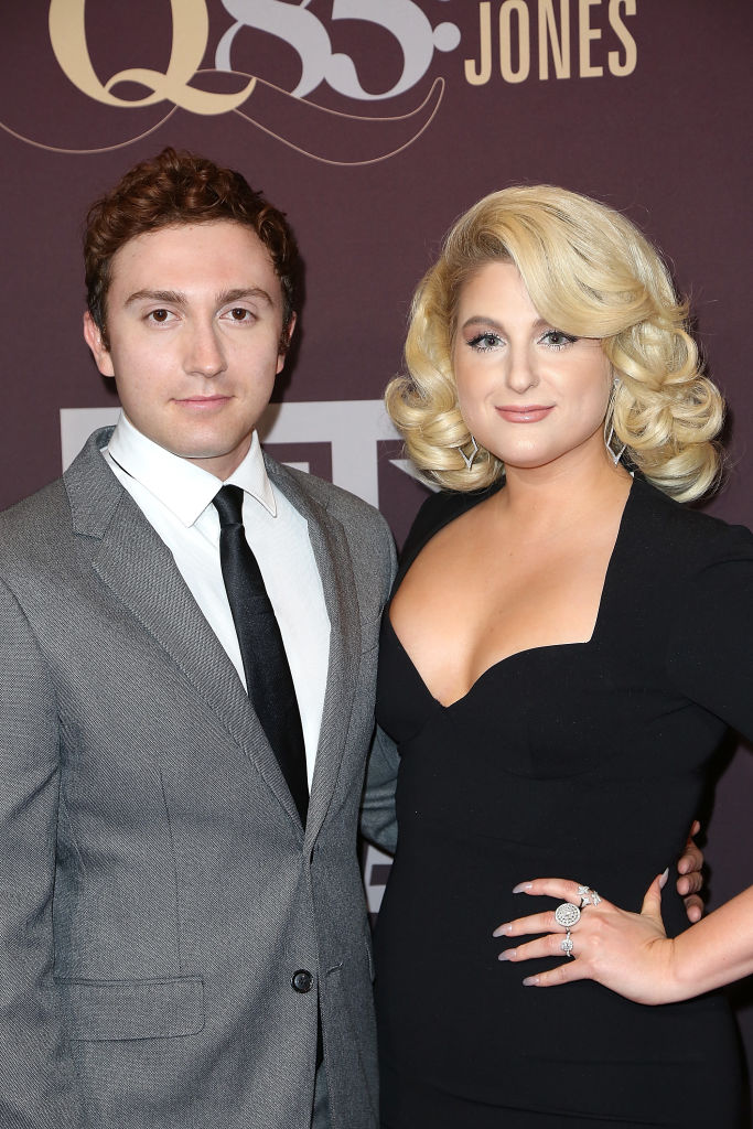 Daryl Sabara and Meghan Trainor arrive at 'Q 85: A Musical Celebration for Quincy Jones' presented by BET Networks at Microsoft Theater on September 25, 2018 in Los Angeles, California. (Photo by Maury Phillips/Getty Images for BET)