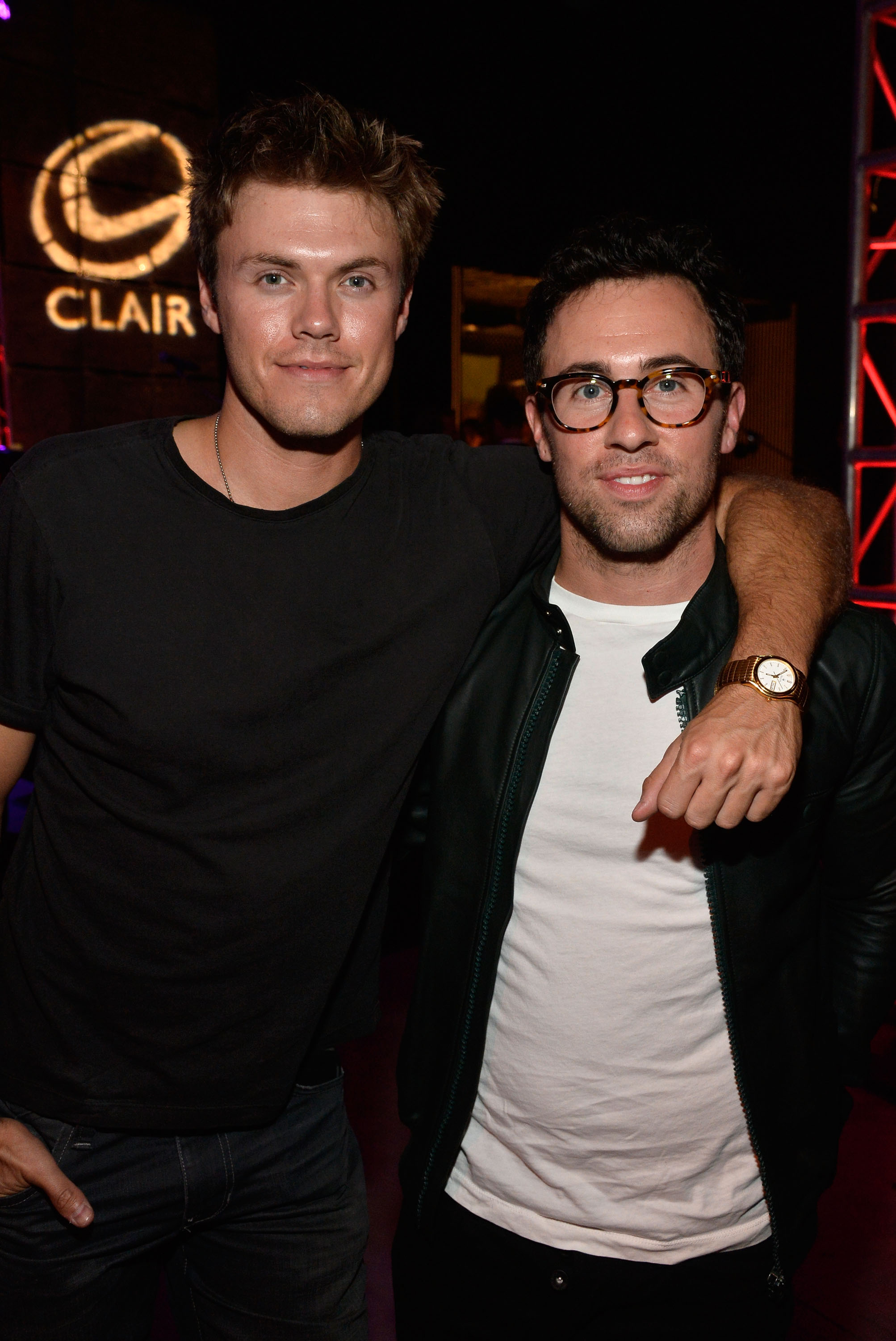 Actors Blake Cooper Griffin and Tim Rock attend Hudson Jeans Presents The Art of Elysium's Genesis Celebrating Emerging Artists at Siren Cube on September 20, 2013, in Los Angeles, California.
