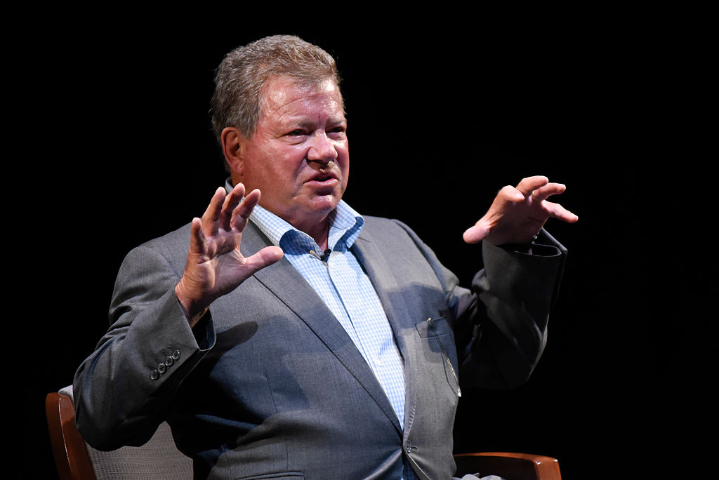 Actor William Shatner speaks during the Smithsonian Magazine's 2016 Future Is Here Festival at The National Press Club in Sidney Harman Hall at the Shakespeare Theatre on April 22, 2016, in Washington, DC. (Getty Images)