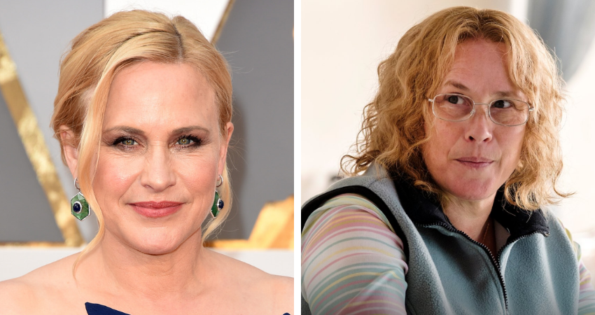 Patricia Arquette (L) as Tilly (R) in Escape at Dannemora. (Source: Getty/Twitter)