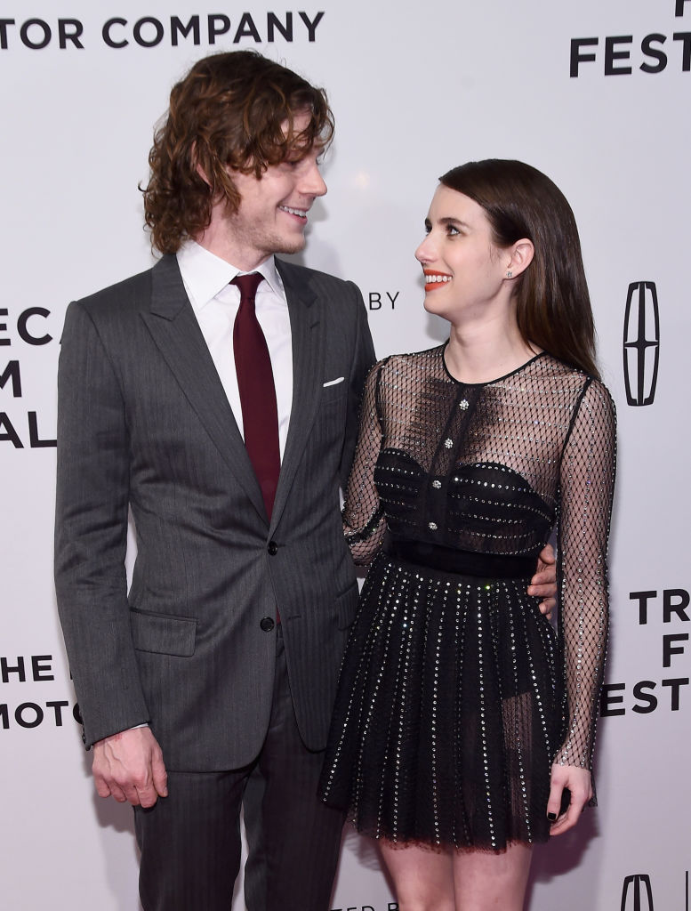 Actors Evan Peters and Emma Roberts attend the 'Dabka' Premiere during the 2017 Tribeca Film Festival at SVA Theater on April 27, 2017 in New York City. (Photo by Ilya S. Savenok/Getty Images for Tribeca Film Festival)