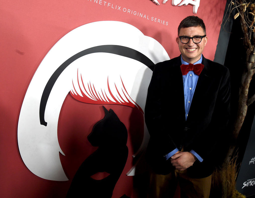 Roberto Aguirre-Sacasa arrives at the premiere of Netflix's 'Chilling Adventures Of Sabrina' at the Hollywood Athletic Club on October 19, 2018, in Los Angeles, California. (Getty Images)