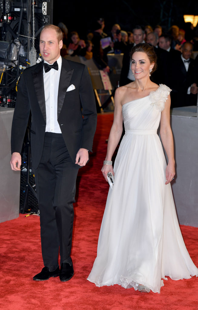 Prince William and Kate Middleton at the Baftas (Source: Getty Images)