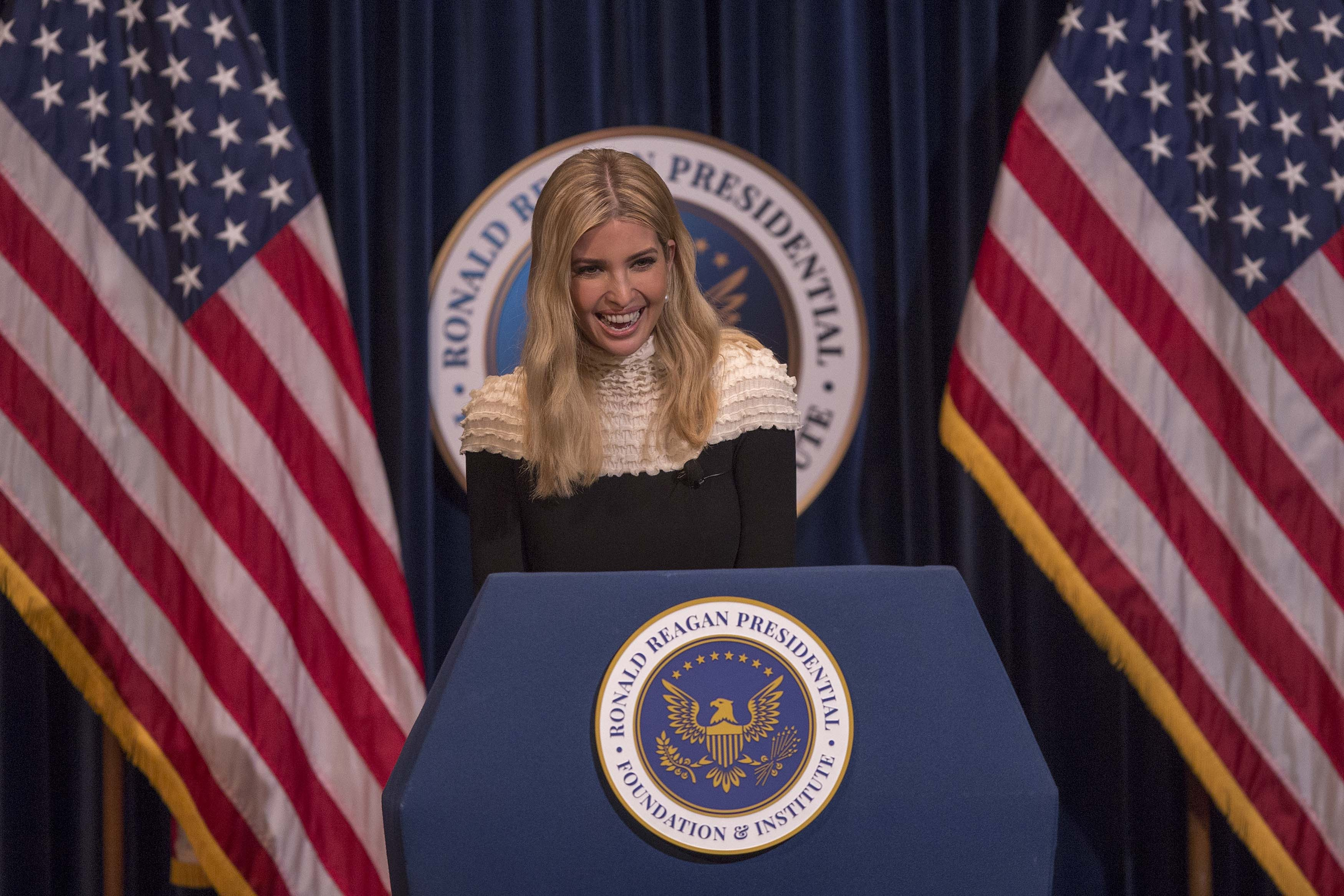 Ivanka Trump appears at the Ronald Reagan Presidential Library to talk about tax cuts and reform on November 5, 2017 in Simi Valley, California.