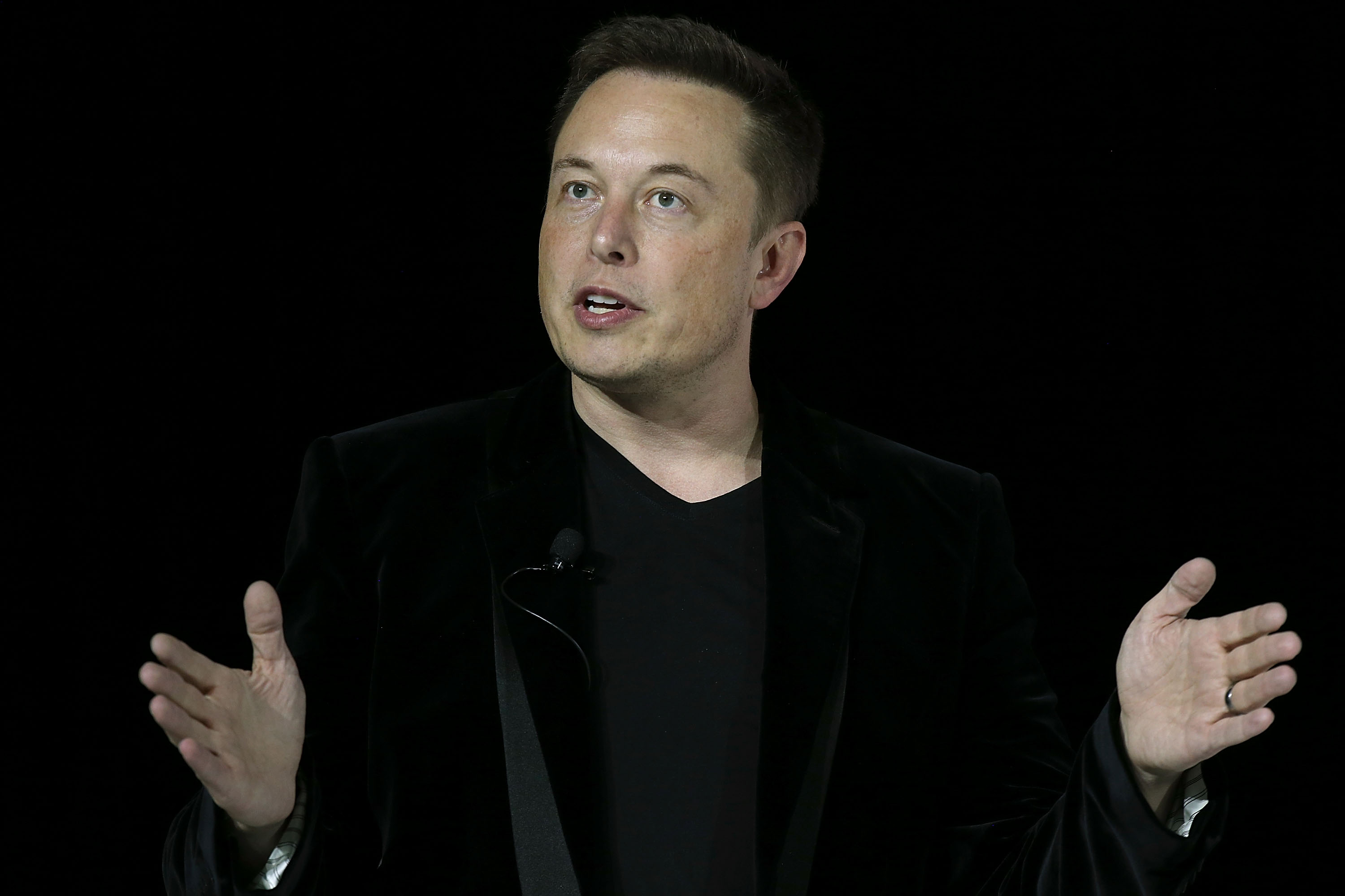 Tesla CEO Elon Musk speaks during an event to launch the new Tesla Model X Crossover SUV on September 29, 2015 in Fremont, California. After several production delays, Elon Musk officially launched the much anticipated Tesla Model X Crossover SUV. The
