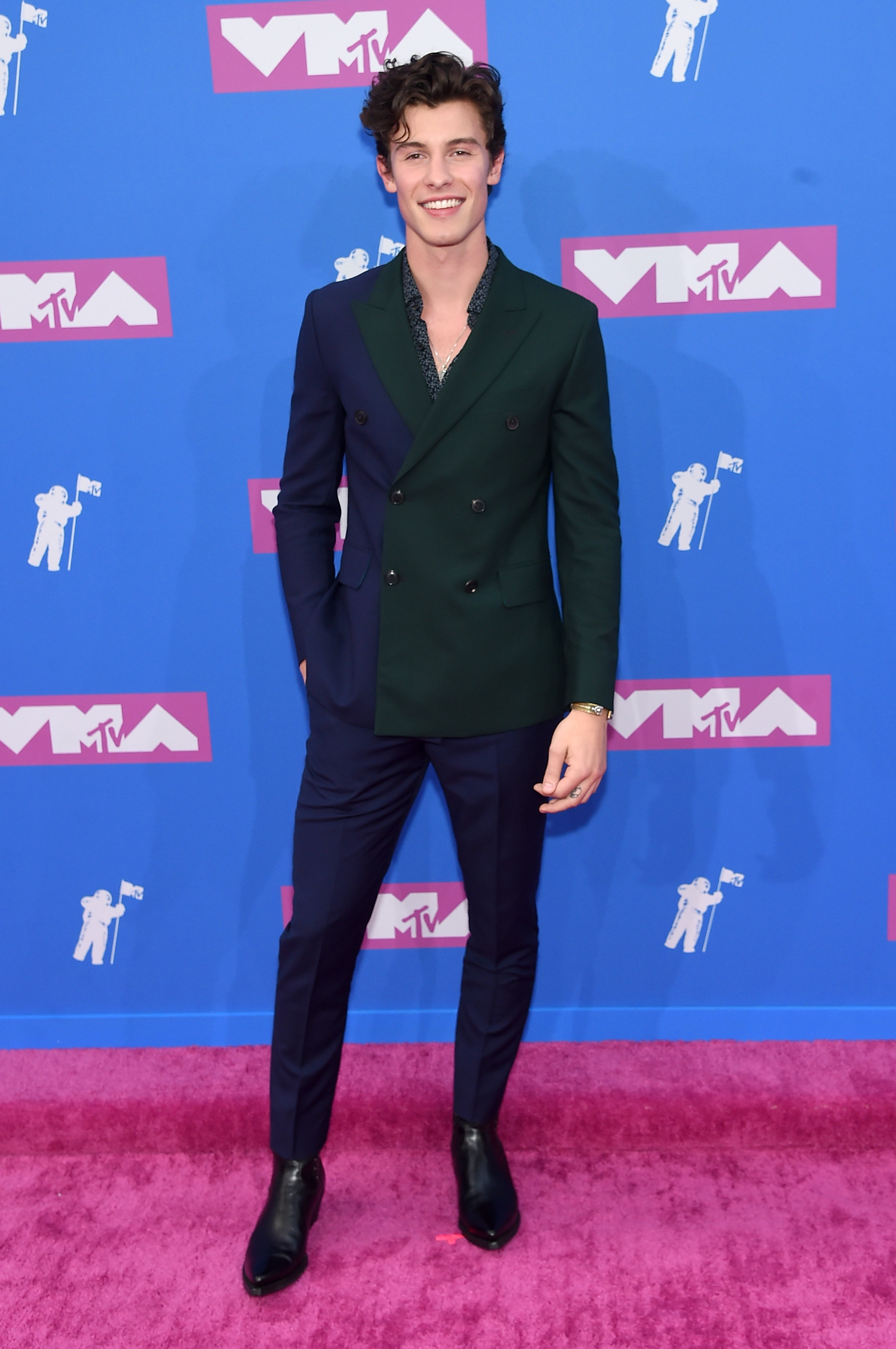 Shawn Mendes attends the 2018 MTV Video Music Awards at Radio City Music Hall on August 20, 2018 in New York City.