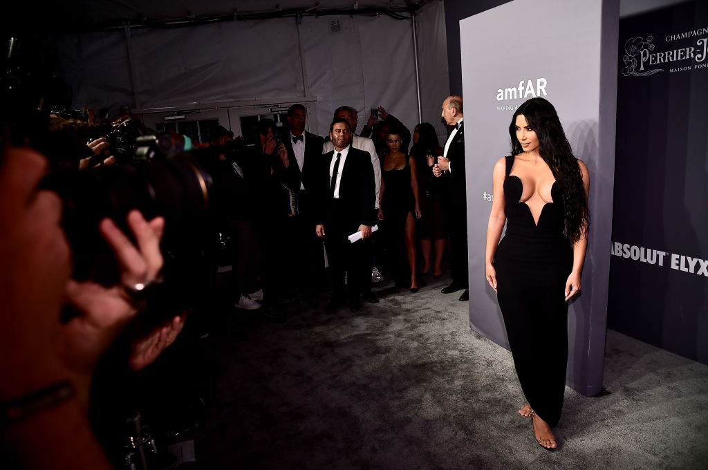 Kim Kardashian West attends the amfAR New York Gala 2019 at Cipriani Wall Street on February 6, 2019 in New York City. (Photo by Theo Wargo/Getty Images)