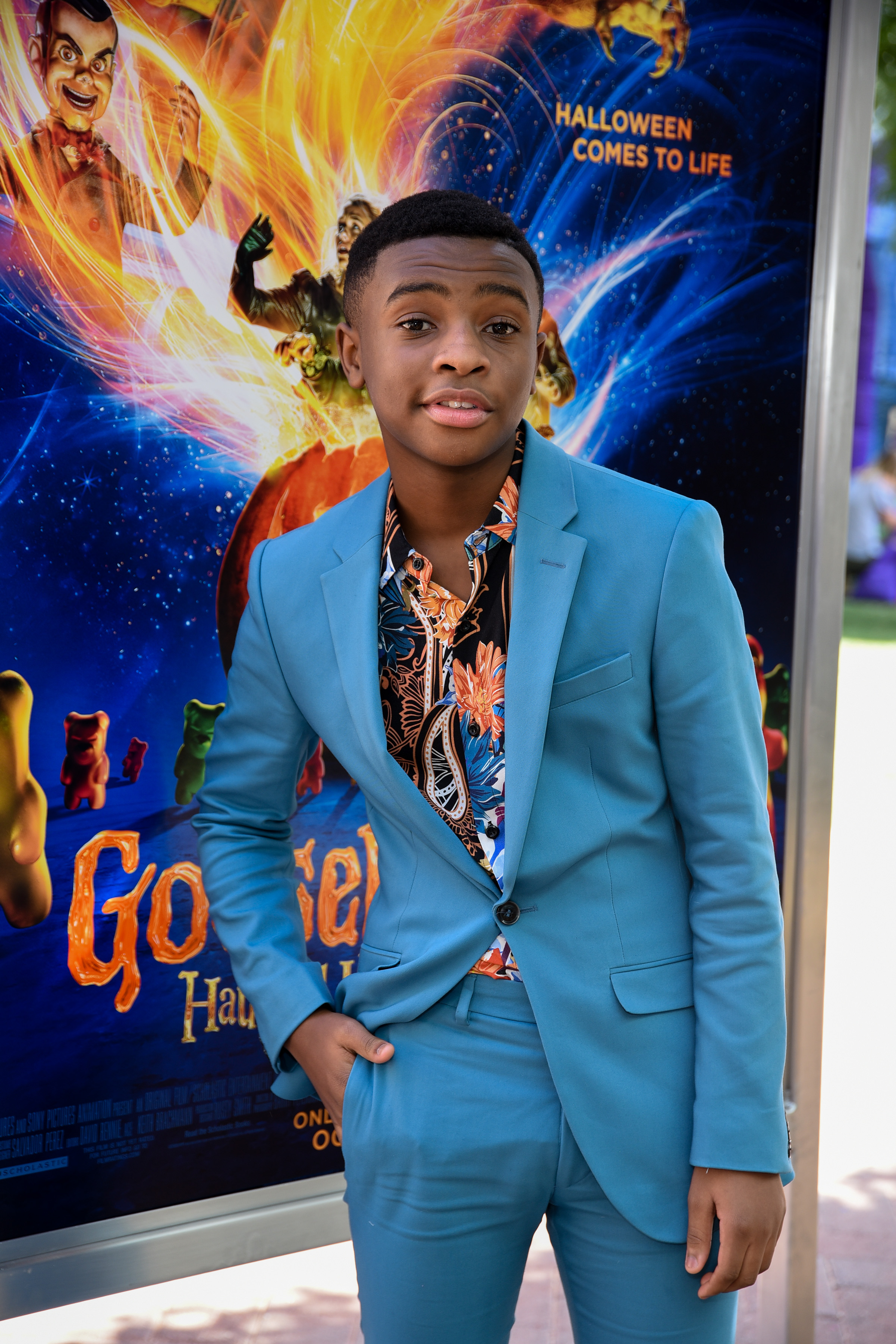 Caleel Harris attends Columbia Pictures and Sony Pictures Animation's 'Goosebumps 2: Haunted Halloween' special screening at Sony Pictures Studios on October 7, 2018 in Culver City, California.