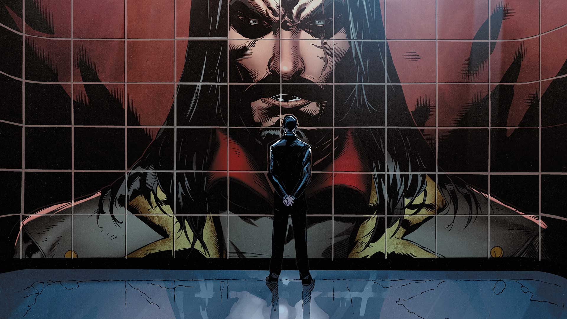Vandal Savage briefing a member of The Light. (Source: DC Comics)