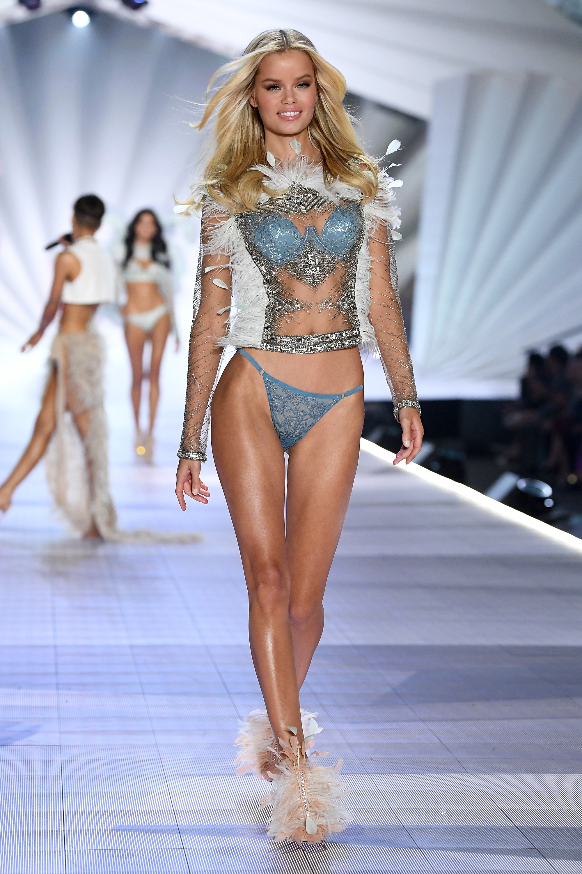 Frida Aasen walks the runway during the 2018 Victoria's Secret Fashion Show at Pier 94 on November 8, 2018, in New York City. (Getty Images)