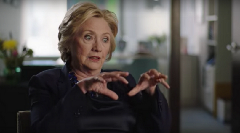 Hillary Clinton also features in the documentary (YouTube)