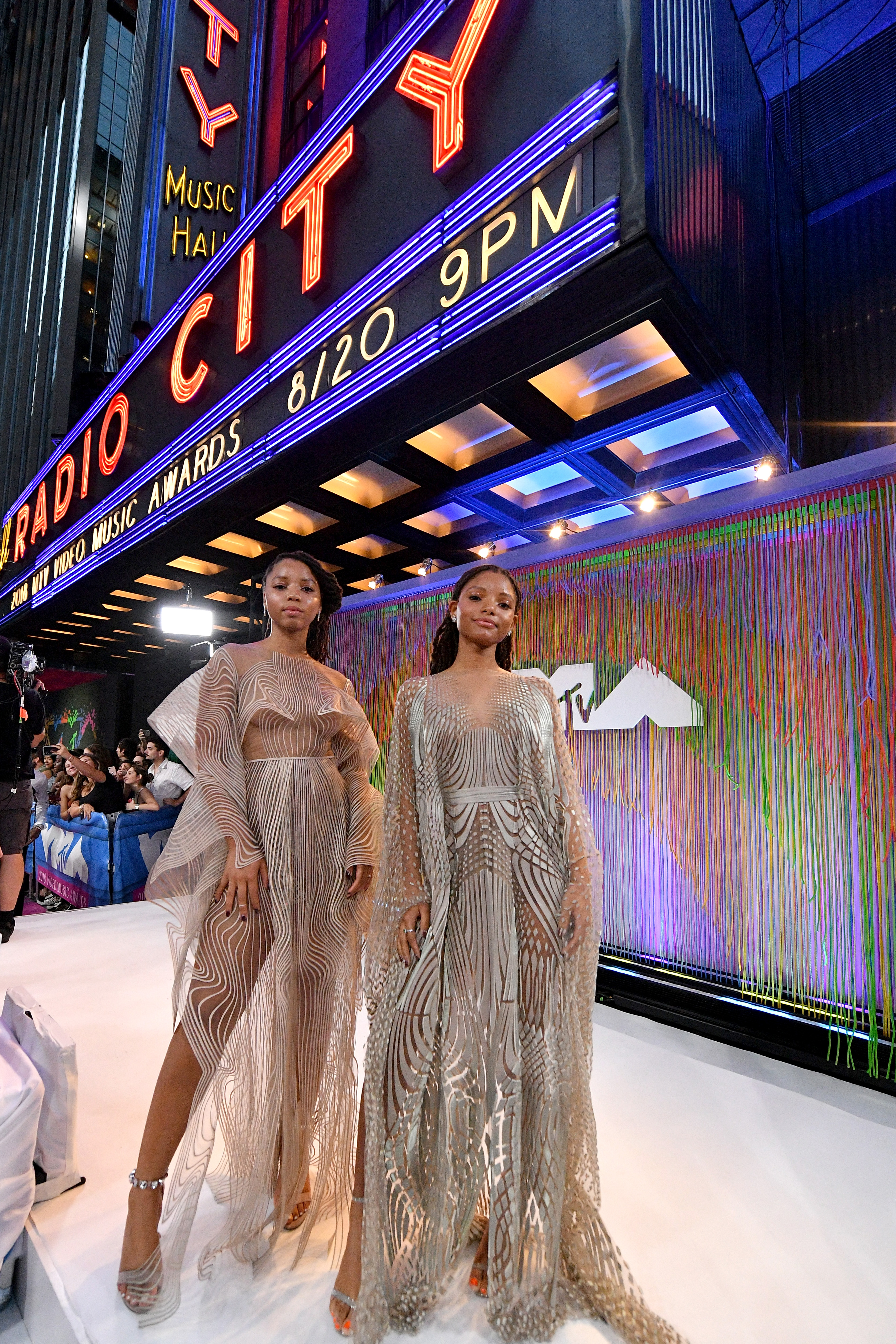 Chloe X Halle attend the 2018 MTV Video Music Awards at Radio City Music Hall on August 20, 2018 in New York City.
