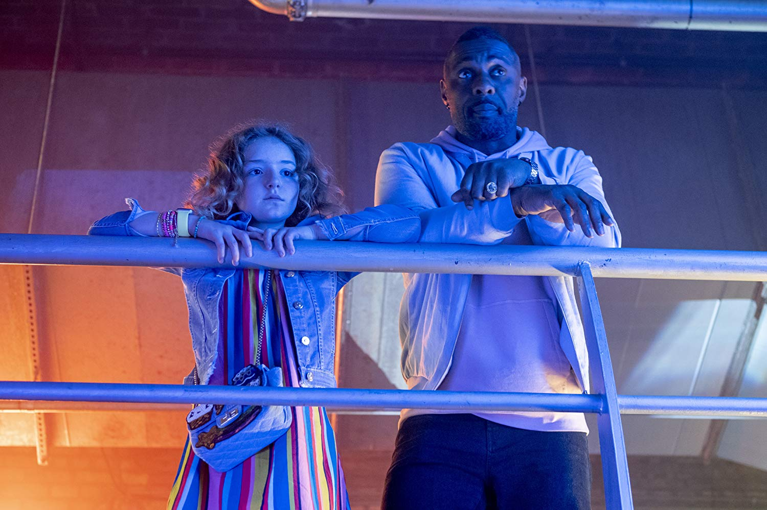Frankie Hervey as Gabby and Idris Elba as Charlie in 'Turn Up Charlie' (Source: IMDb)