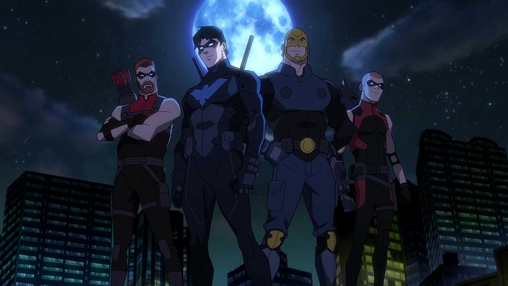 Red Arrow, Nightwing, Guardian, and Arsenal in 'Young Justice: Outsiders'. Source: IMDB