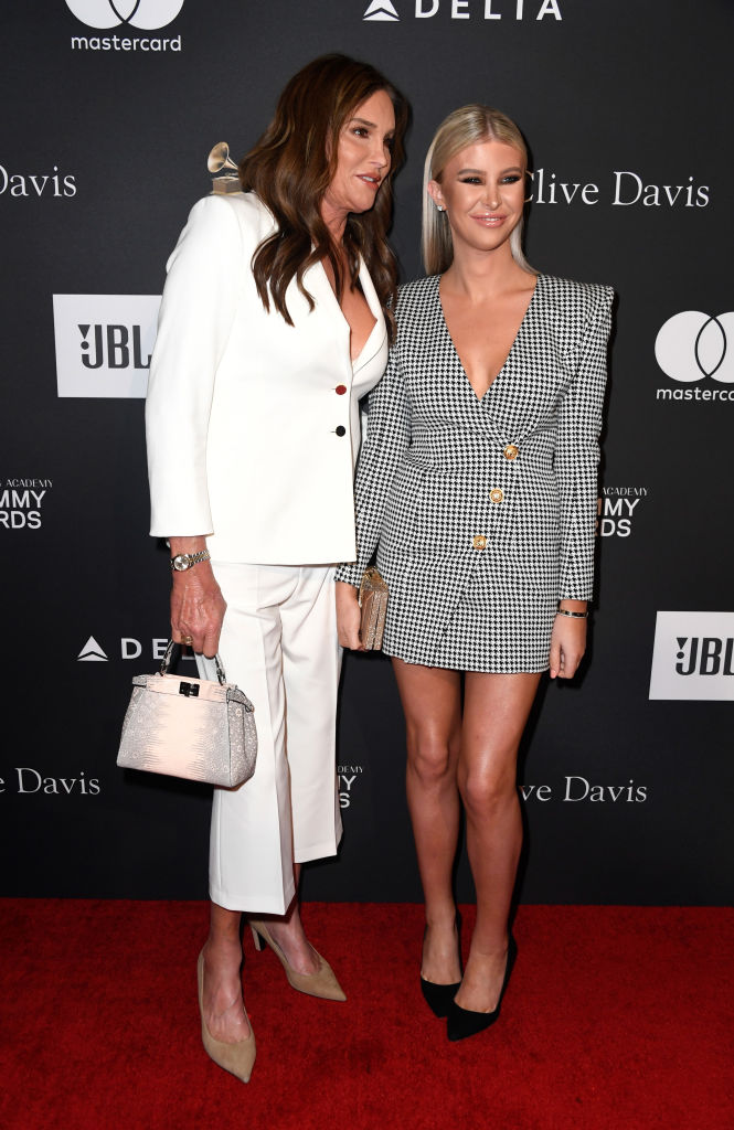 Caitlyn Jenner and Sophia Hutchins attend the Pre-GRAMMY Gala and GRAMMY Salute to Industry Icons Honoring Clarence Avant at The Beverly Hilton Hotel on February 9, 2019, in Beverly Hills, California. (Photo by Frazer Harrison/Getty Images)