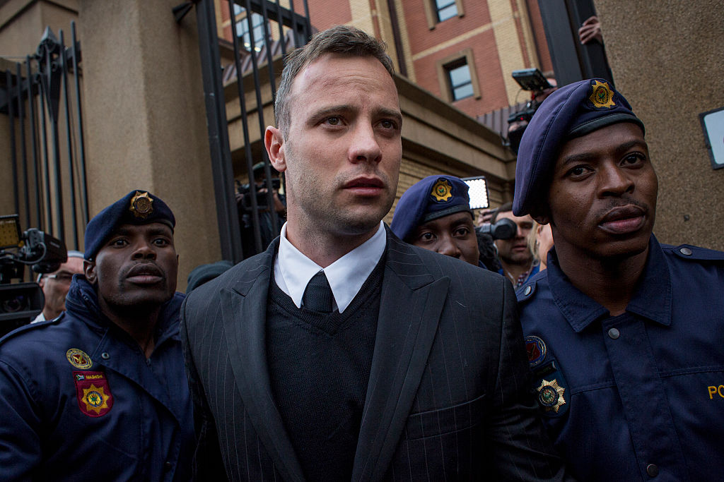 Oscar Pistorius leaves the North Gauteng High Court on June 14, 2016, in Pretoria, South Africa (Source: Charlie Shoemaker/Getty Images)