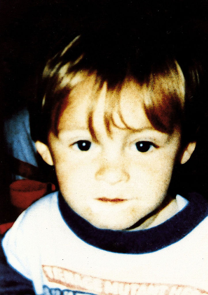 An undated photo of 2-year-old James Bulger, tortured and killed by Jon Venables and Robert Thompson in Bootle, England, in 1993 (Source: BWP Media via Getty Images)
