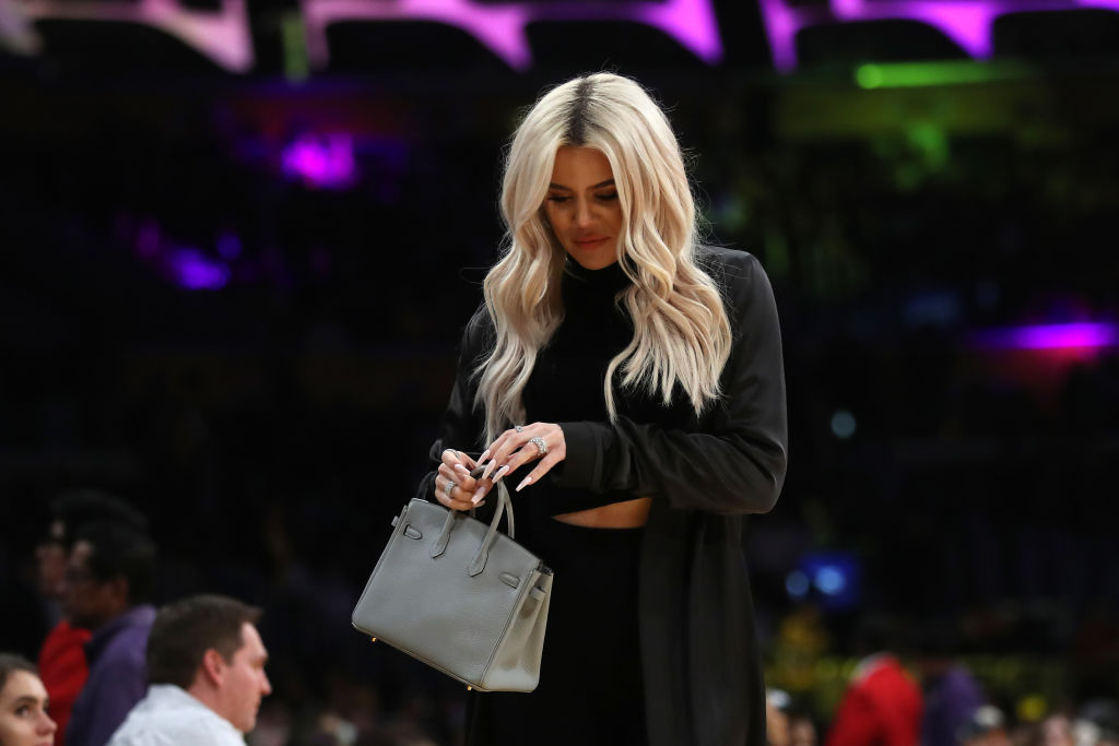 Khloé Kardashian leaves an NBA game between the Cleveland Cavaliers and the Los Angeles Lakers during the second half of a game at Staples Center on January 13, 2019 in Los Angeles, California. (Photo by Sean M. Haffey/Getty Images)
