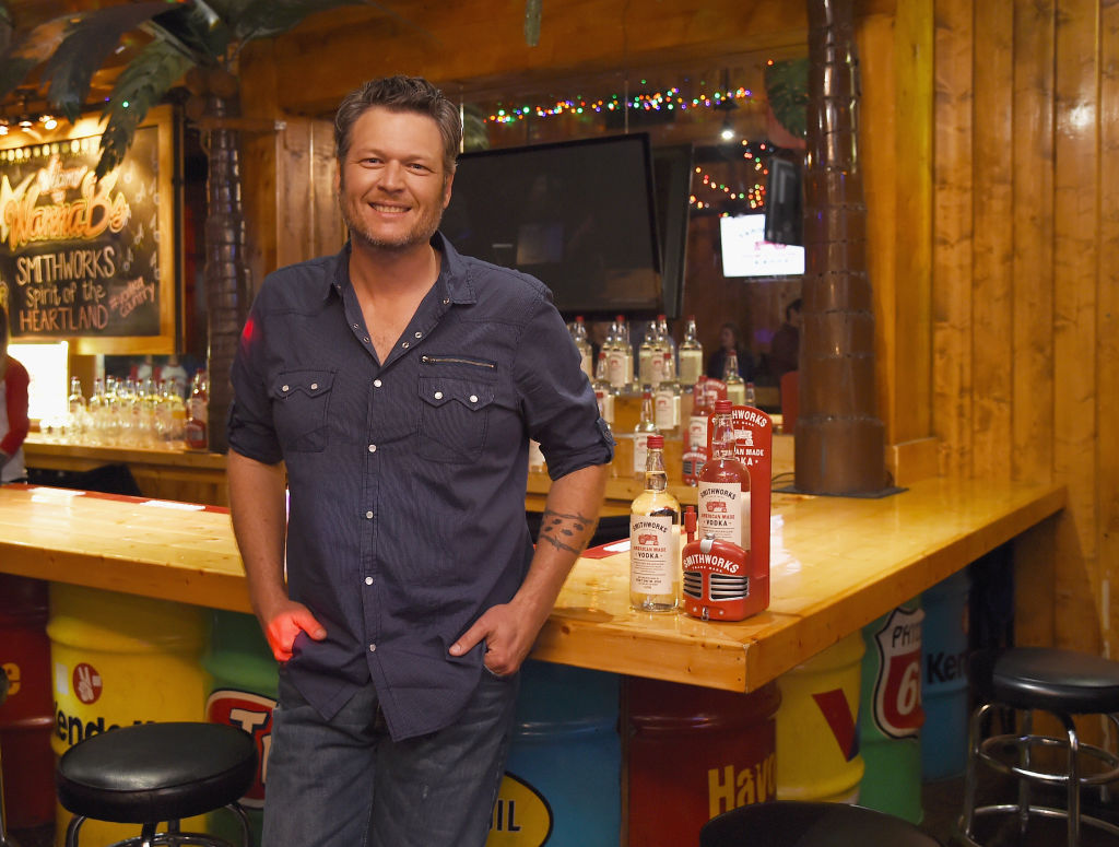 Blake Shelton welcomes Smithworks Vodka to the heart of counrty music on June 6, 2017 in Nashville, Tennessee. (Photo by Erika Goldring/Getty Images for Smithworks Vodka)