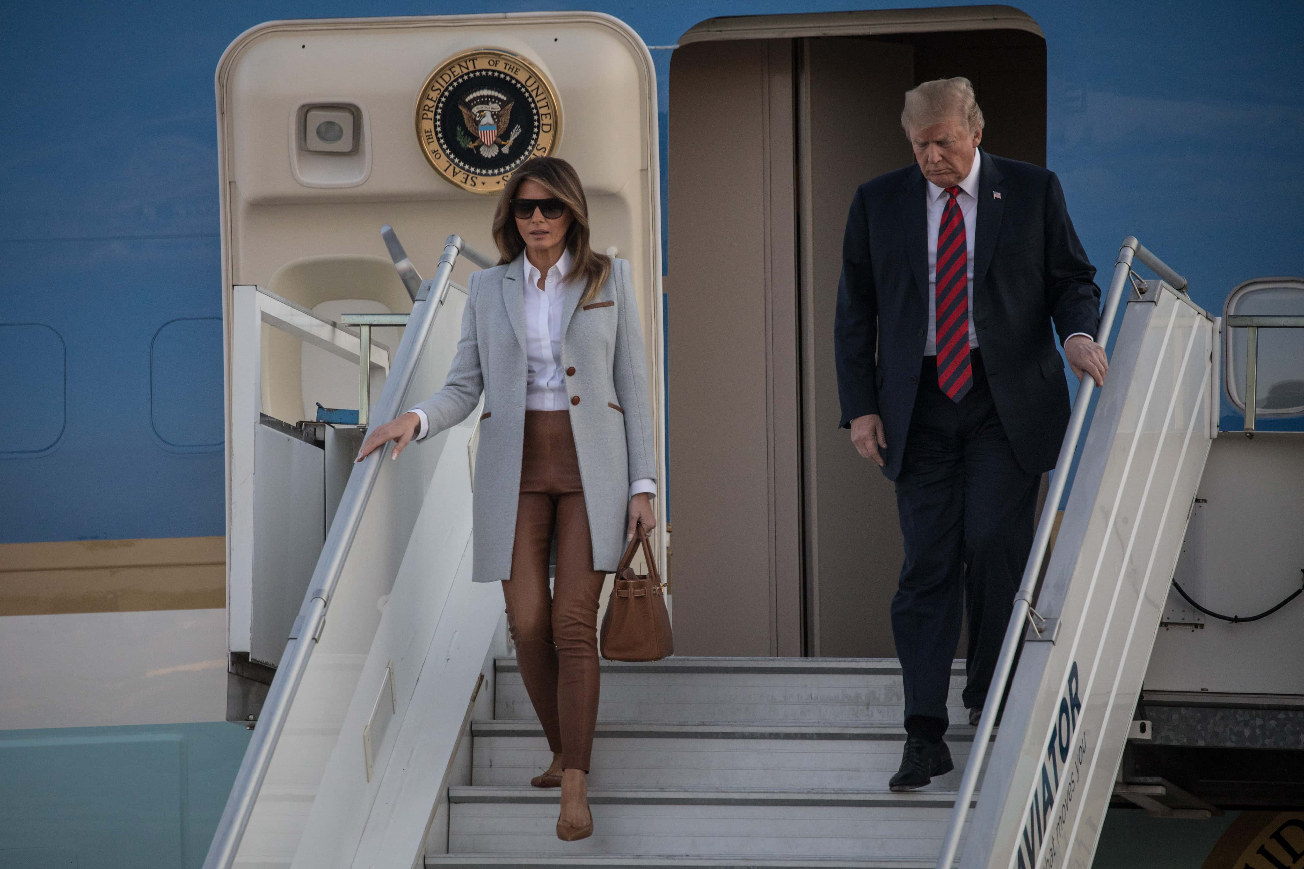 Trump Rarely Joins Melania In Private Air Force One Cabin On Long