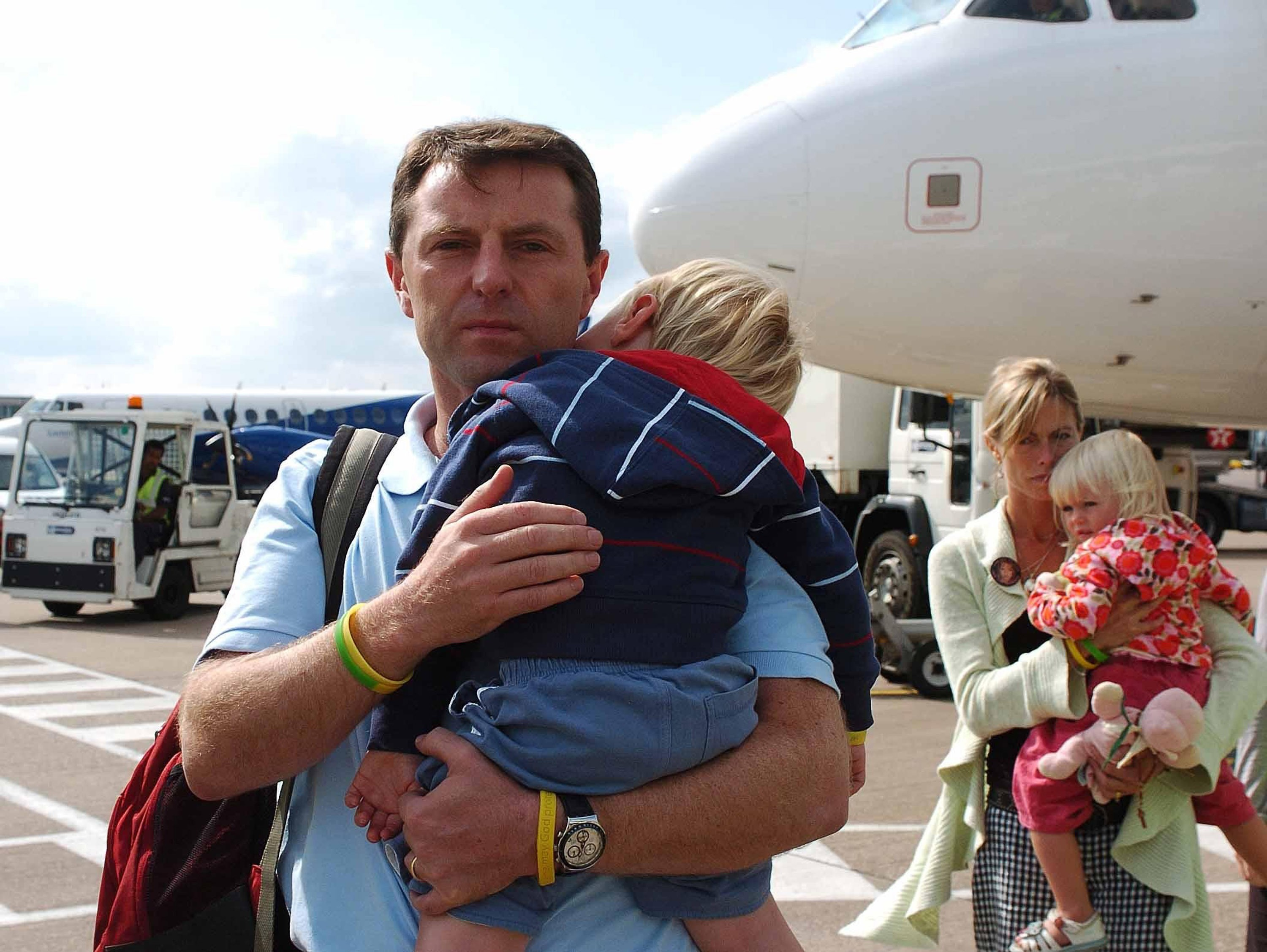 Kate and Gerry McCann the parents of missing four-year-old Madeleine McCann arrive back in the UK to East Midlands airport, after taking a flight from Faro airport on September 9, 2007 near Birmingham, England. The McCanns have been made formal suspects in the disappearance of their four-year-old daughter Madeleine, from the Praia da Luz, holiday apartment in the Algarve on May 3, 2007. No restrictions or bail conditions have been imposed on the couple as they return to the UK.