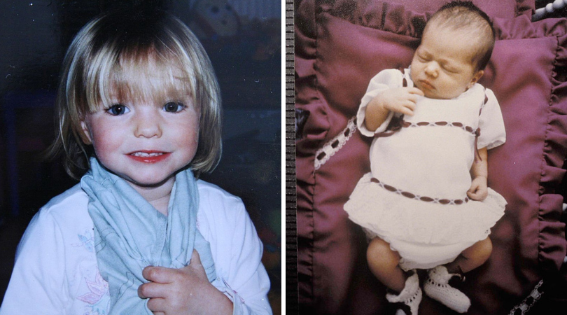 (L) Madeleine McCann and (R) Azaria Chamberlain (Source: Handout/Getty Images)