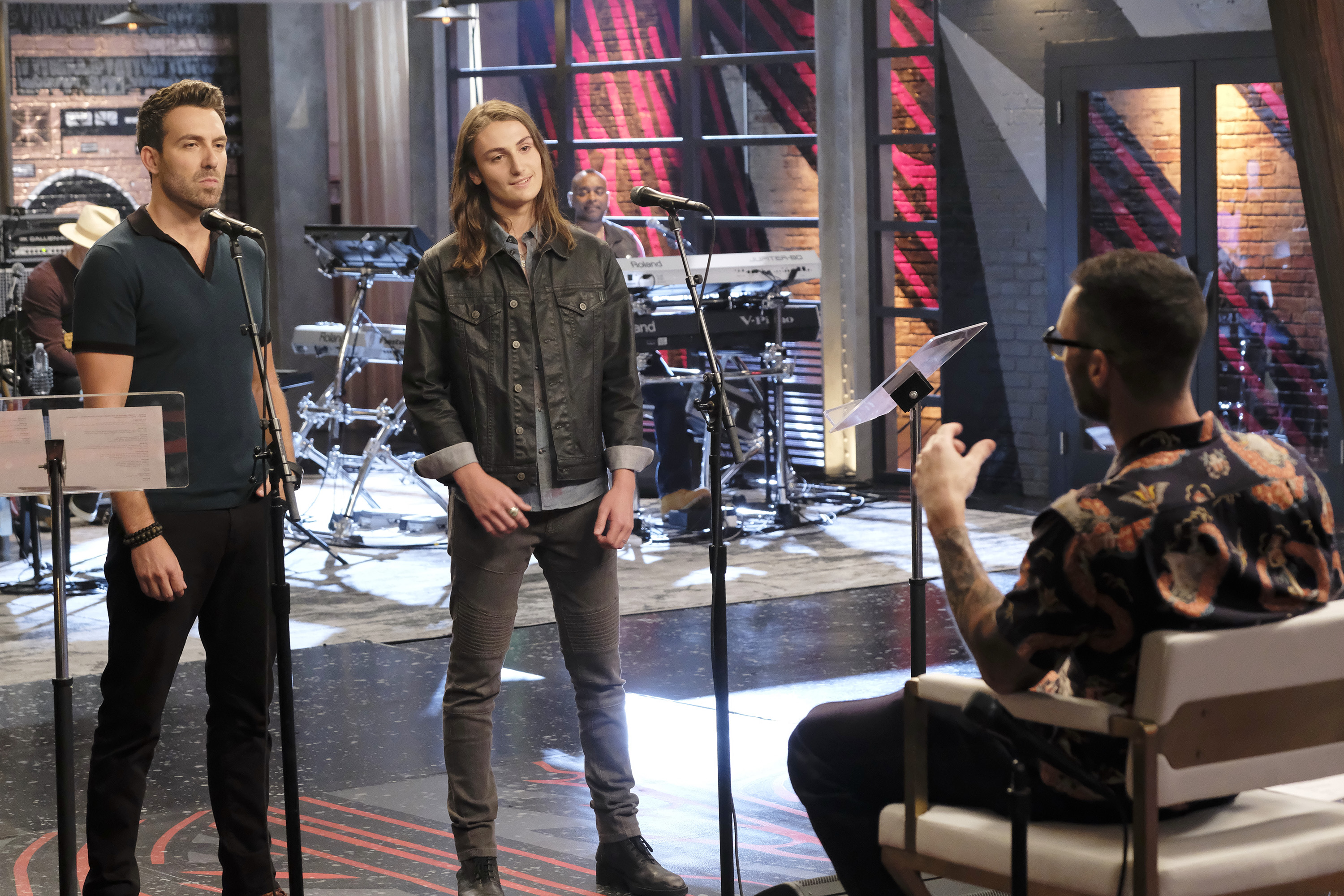 "THE VOICE -- ""Battle Rounds"" Episode 1508 -- Pictured: (l-r) Steve Memmolo, Anthony Arya -- (Photo by: Trae Patton/NBC)"