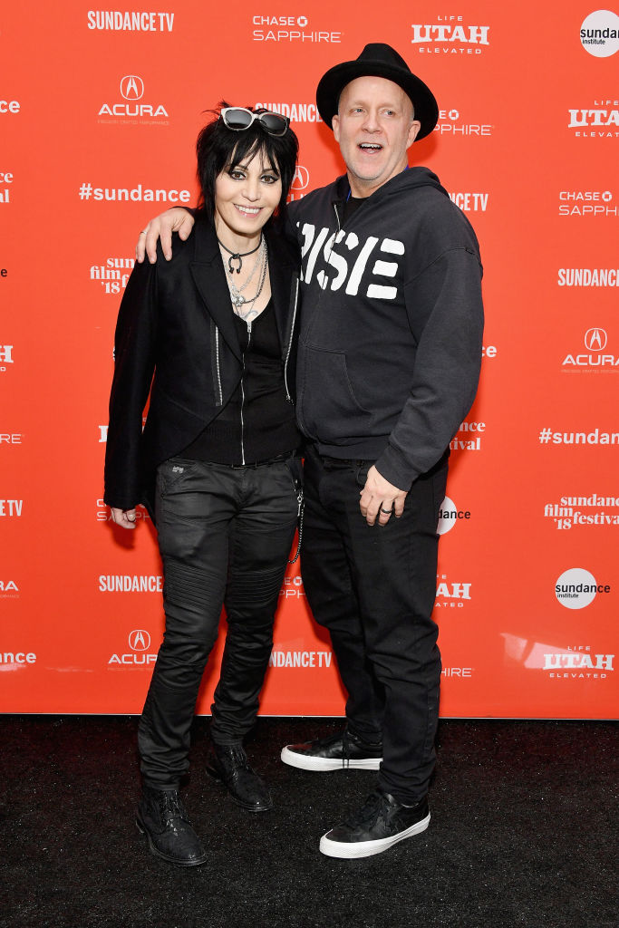 Singer Joan Jett (L) and director Kevin Kerslake attend the 'Bad Reputation' Premiere during the 2018 Sundance Film Festival at The Marc Theatre on January 22, 2018 in Park City, Utah. (Photo by Dia Dipasupil/Getty Images)